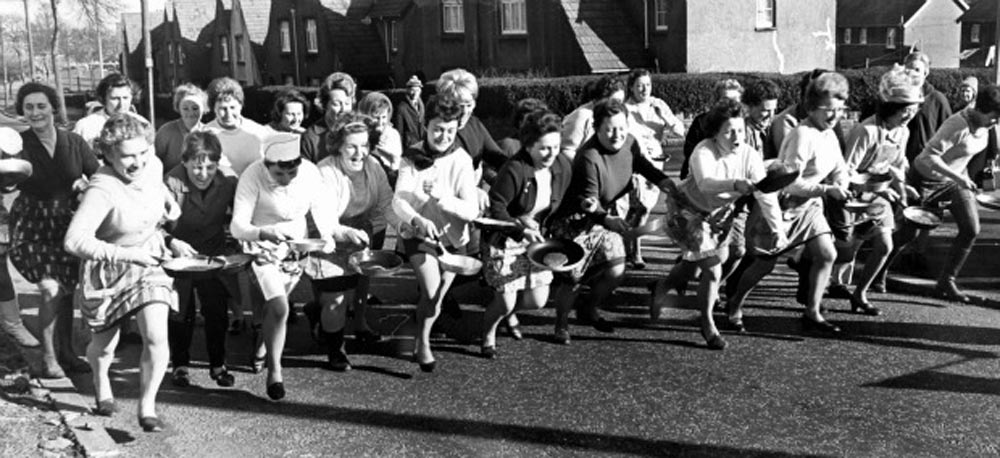 Cardiff pancake day race